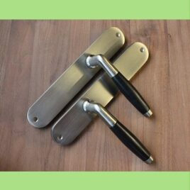 Retro deurkruk langschild | mat | blind | per set