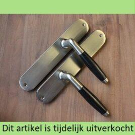 Retro deurkruk langschild | mat | blind | per set | TIJDELIJK UITVERKOCHT