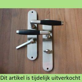 Retro deurkruk langschild | mat | wc | per set | TIJDELIJK UITVERKOCHT