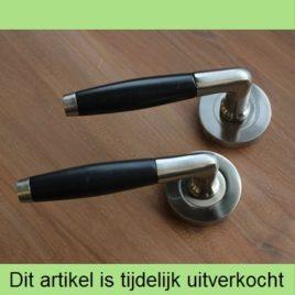 Retro deurkruk met ronde rozet | mat | per set | TIJDELIJK UITVERKOCHT