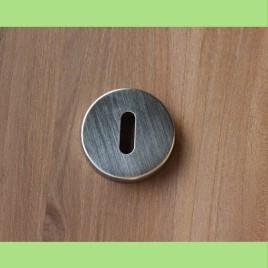 Retro rond sleutelplaatje | mat | per stuk